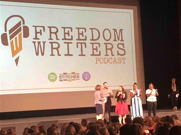 Ninth Grade Students Attend Freedom Writers Presentation