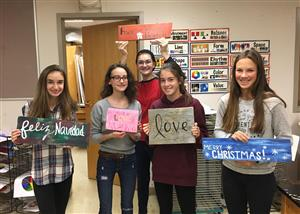 Art Club Helps Raise Funds for St. Mary's Church