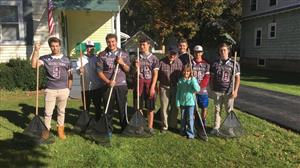 Football Team Helps Local Seniors