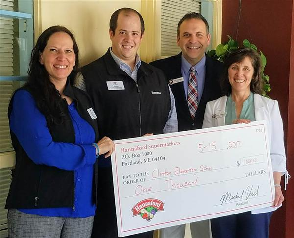 Hannaford Presents CES with $1000 Check