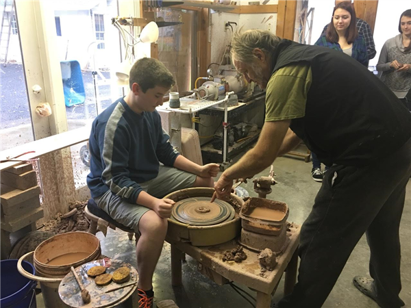 Art Students Tour Clinton Pottery